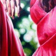 Red dress hand