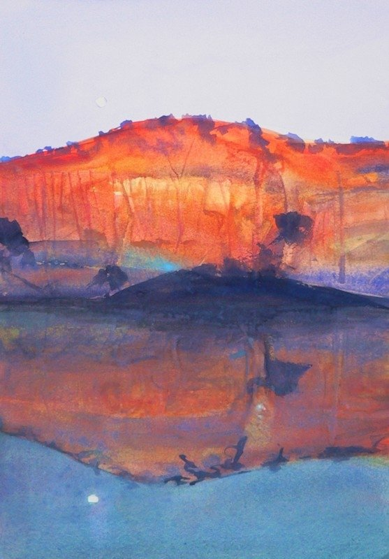 _murray-river-evening-reflection-30x21cm-highly-commended-1434273354