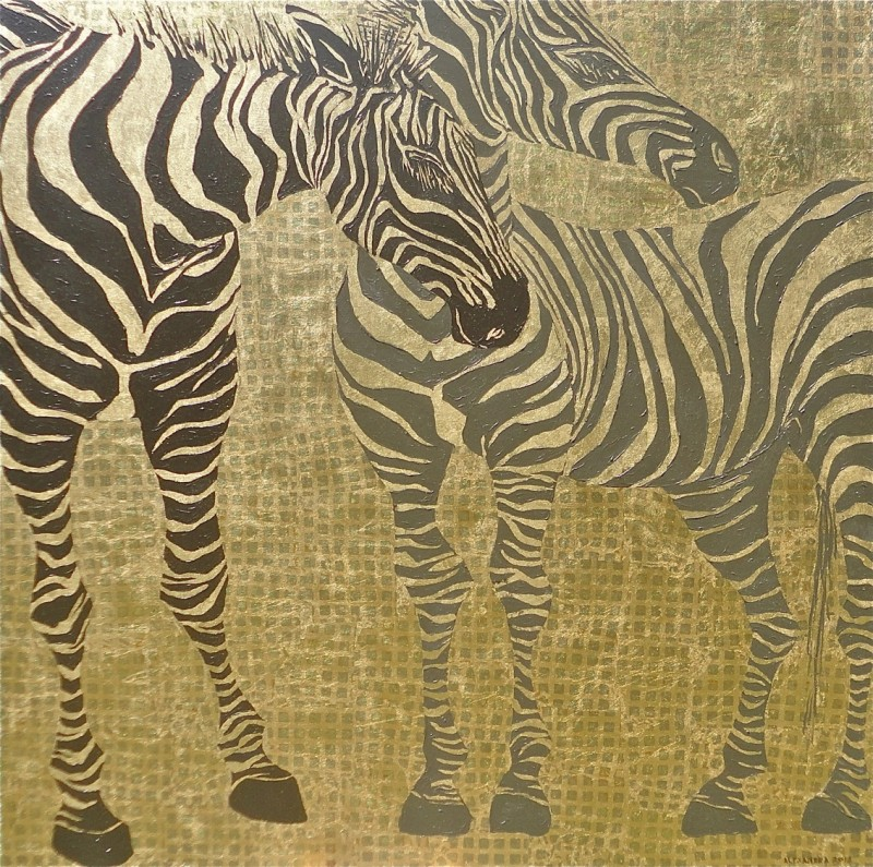Place Of The Zebra 140x140cm
