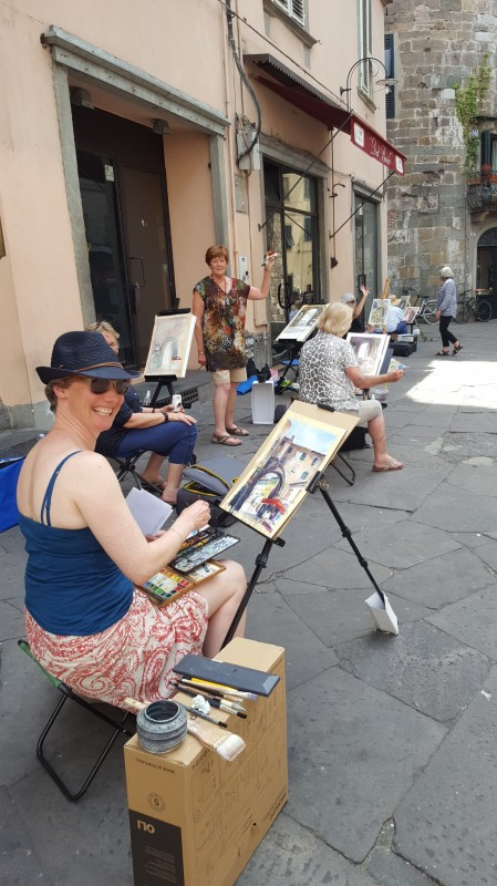 Watercolour Painting Holiday Workshop Lucca Italy May 2018