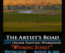 Wyoming Sunset Online Watercolor Class with John Hulsey