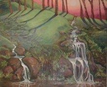 Woodland Waterfall, By Fiona Jeffree.jpg