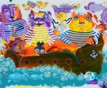 Paradise Voyage - original painting by Yelena Dyumin