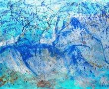 Blue With Rain  180X98CM $6200