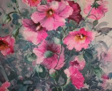 Pretty in Pink  Hollyhocks No2 (708x1024).jpg