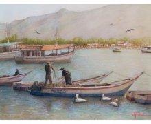 Pescadores en Bahia Pampatar