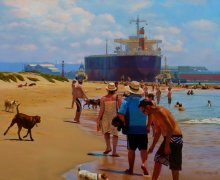 image.jpeg Newcastle harbour (NSW) oil on board