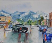 Wet day, Fernie, BC