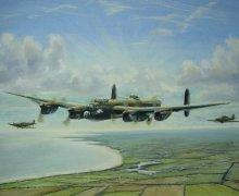 Lancaster, Spitfire and Hurricane formation