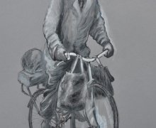 Old Man On Bicycle