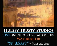 St. Mark's Square - Live Watercolor Class with John Hulsey