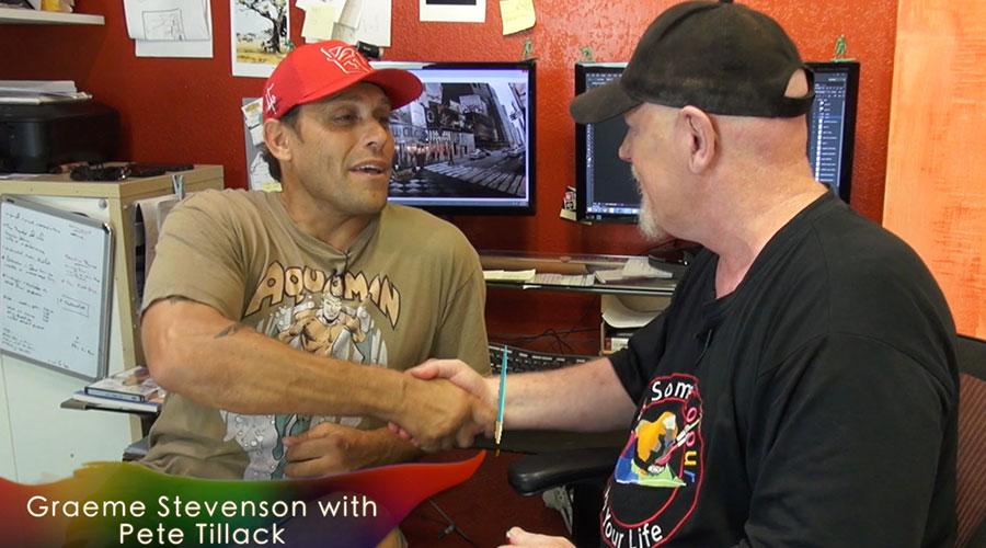 Pete Tillack meets Graeme Stevenson