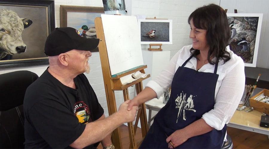 Marie Grice meets Graeme Stevenson