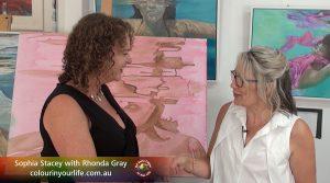 Rhonda Gray meets Sophia Stacey, concept Graeme Stevenson
