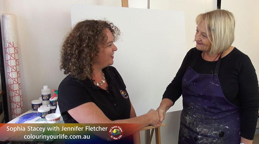 Jennifer Fletcher meets Sophia Stacey. Show Creator Graeme Stevenson