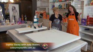 Judy Waters meets Sophia Stacey. Show Creator Graeme Stevenson