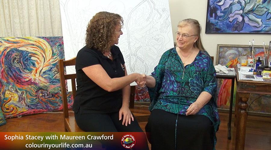 Maureen Crawford meets Sophia Stacey. Show Creator Graeme Stevenson