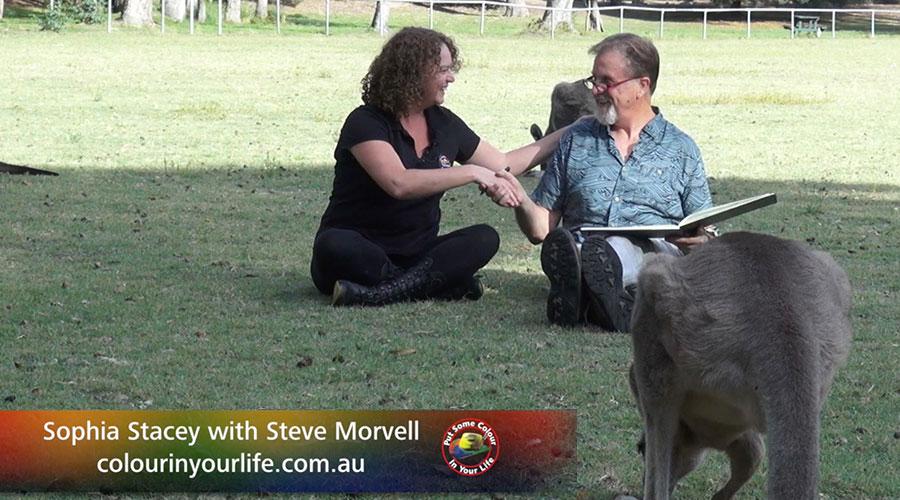 Sophia Stacey Meets Steve Morvell. Show Creator Graeme Stevenson