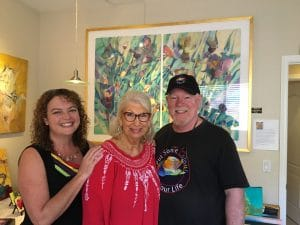 Sophia Stacey and Graeme Stevenson with Nancy Christy Moore