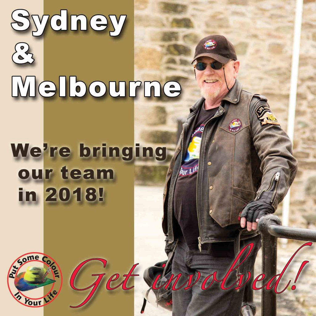 Colour in Your Life is filming in Sydney and Melbourne in 2018