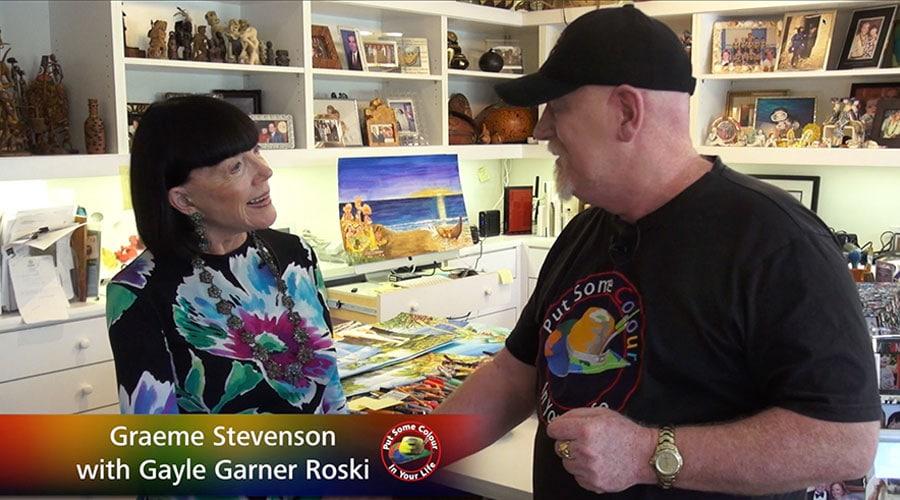 Gayle Garner Roski meets Graeme Stevenson