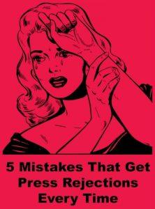 5 artist press mistakes
