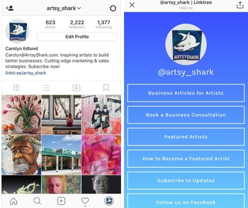 Art marketing tip how to add extra links to your instagram profile instagram linkin ccuart Choice Image