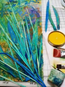"Artist Sheri Trepina shares an in progress photo of her botanical work titled ""A Walk at Tally Lake."""