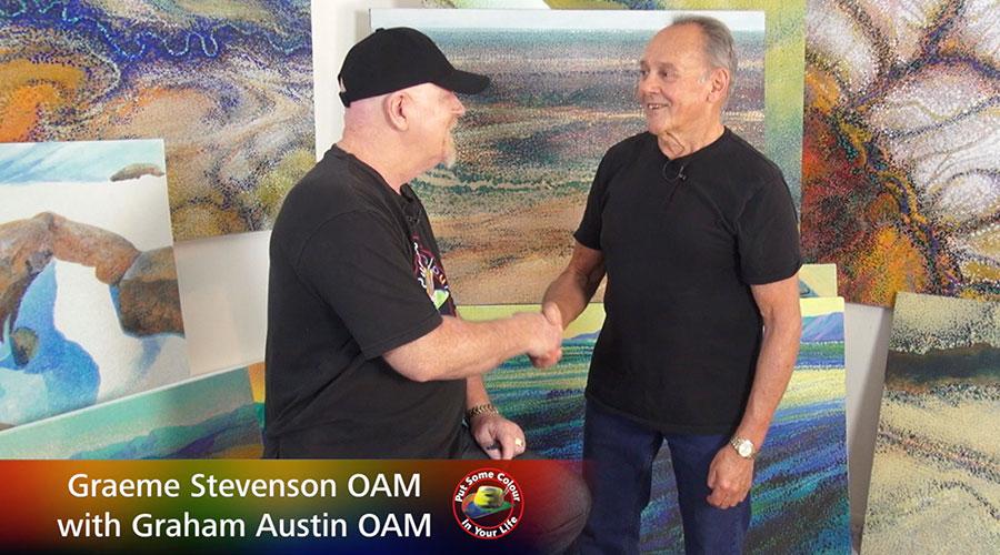 Gram Austim OAM meets Graeme Stevenson OAM on Colour in Your Life