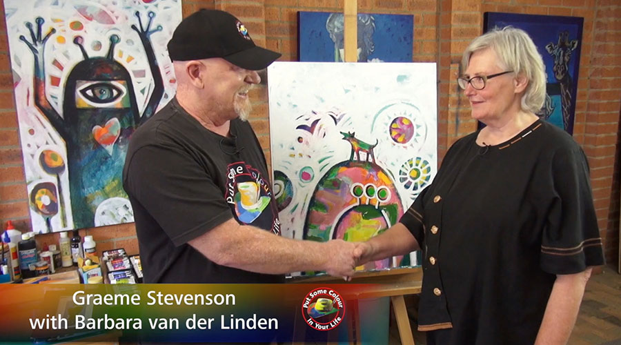 Barbara van der Linden meets Graeme Stevenson on Colour In Your Life