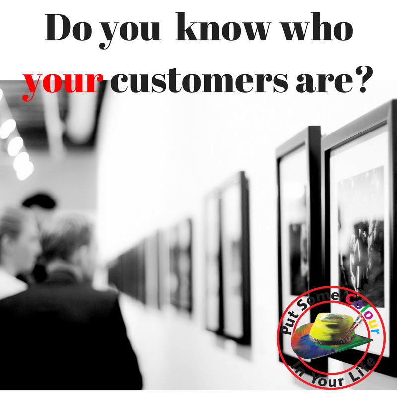 art marketing tip Do you know who your customers are?