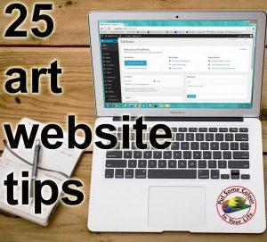 art marketing tip 25 art website tips