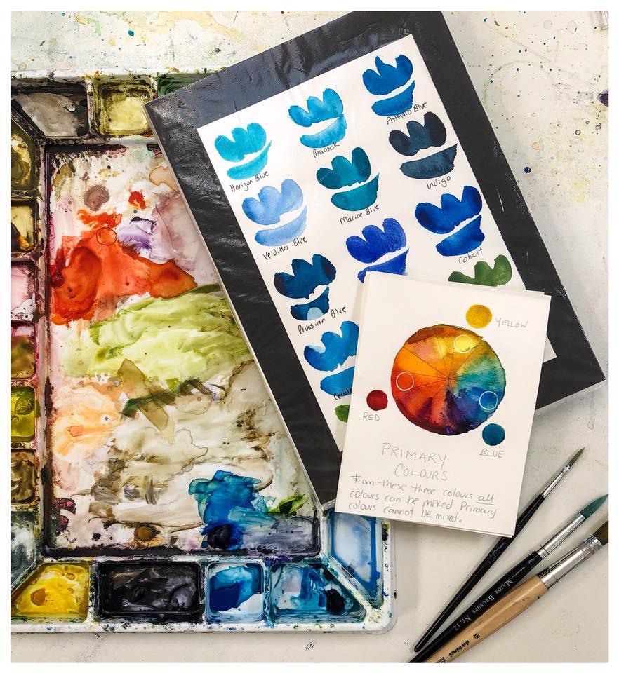 Caroline Deeble Water colour workshop