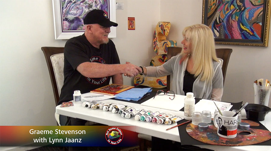 Lynn Jaanz meets Graeme Stevenson on Colour In Your Life