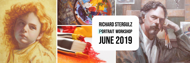 Richard Stergulz portrait painting workshop