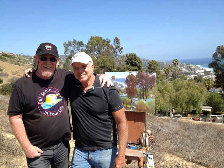 Graeme and John Cosby Laguna beach