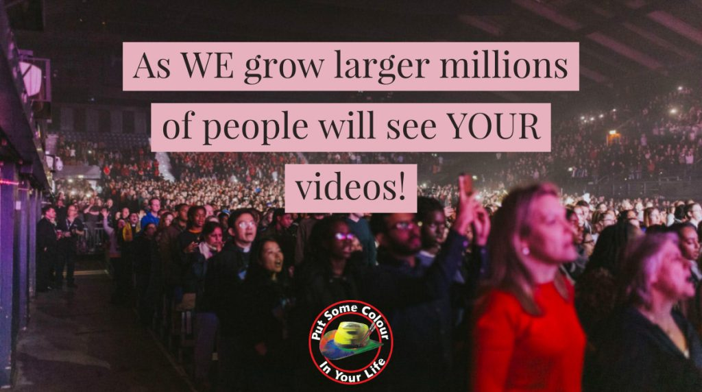 Marketing tip as WE grow larger millions of people will see YOUR videos FB