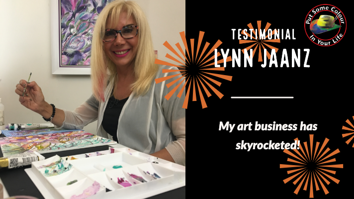 Lynn Jaanz testimonial Art Marketing Tip