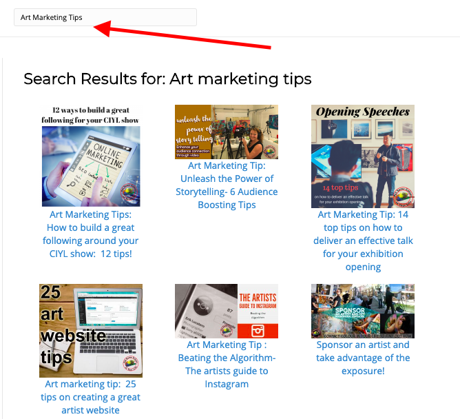 art marketing tips