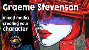 Graeme Stevenson mixed media demo