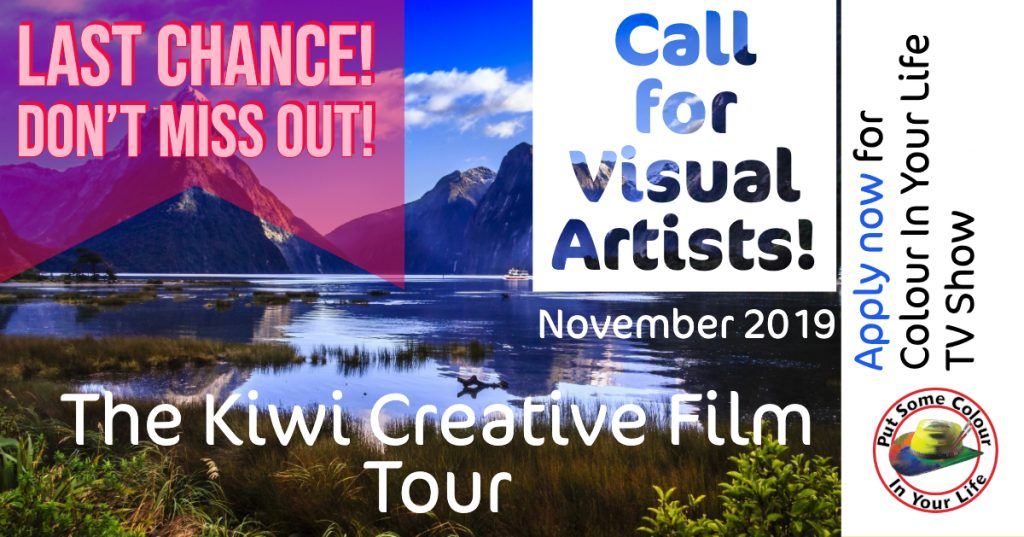 Colour in Your LIfe The Kiwi Creative film tour last chance