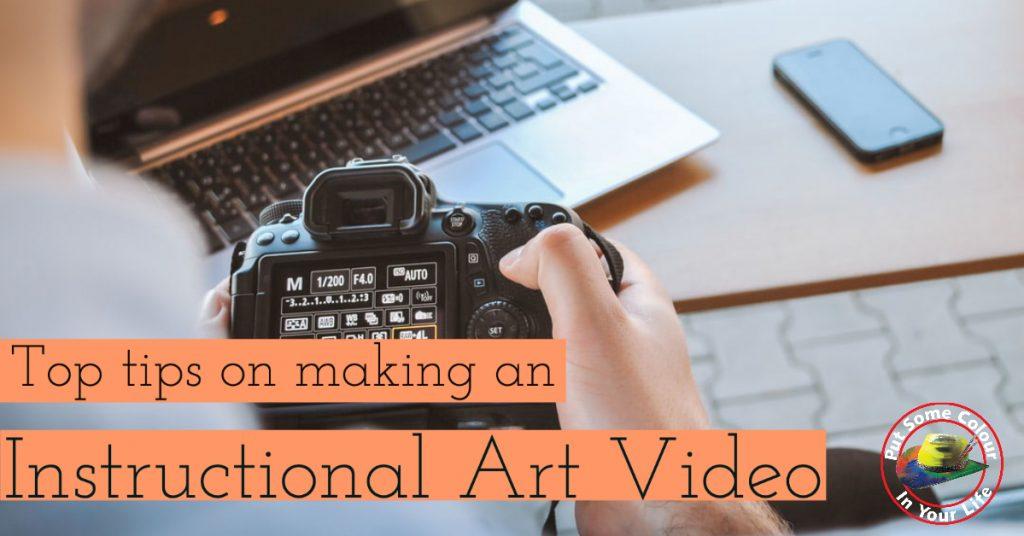 make an Instructional art video