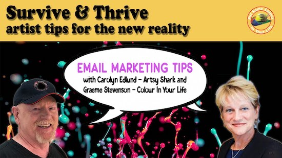 Survive and Thrive email marketing Covid 19 for artists