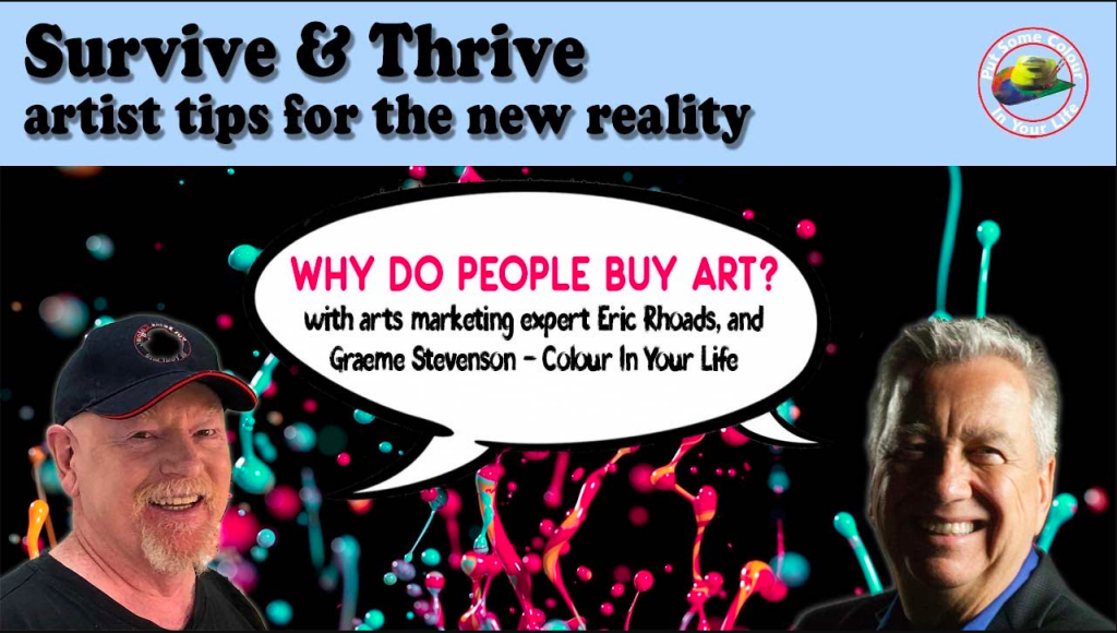 Covid 19 for artists Why do people buy art?