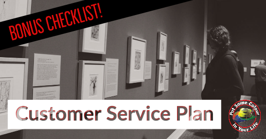 art business customer service plan