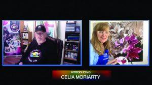 Celia Moriarty and Graeme Stevenson on the set of Virtual CIYL