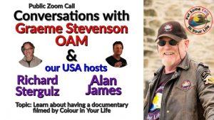 zoom call with Alan James and Richard Stergulz