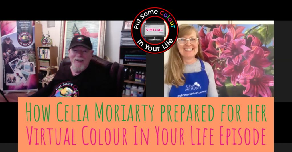 How Celia Moriarty prepared for her Virtual Colour In Your Life Episode