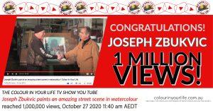 Jospeh Zbukvic 1 million views