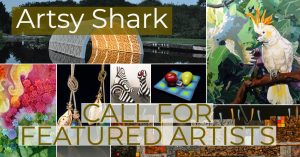 Artsy SHark 2021 Winter Call out with text